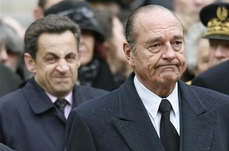 Chirac and Sarkozy attend a ceremony to honour Lucie Aubrac in Paris